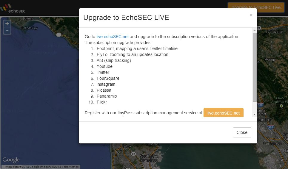 Echosec Live