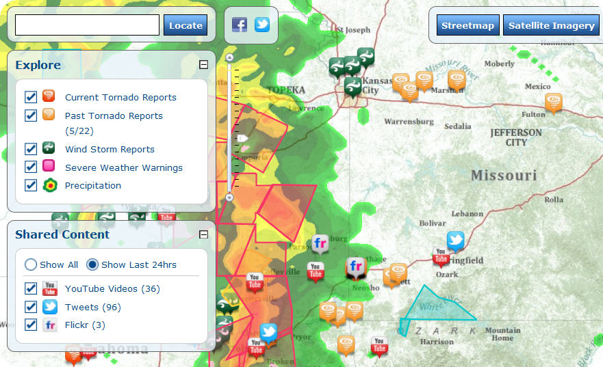 Arkansas Weather Map Live Severe Weather Map from Esri Shows tornado warnings and reports Arkansas Weather Map