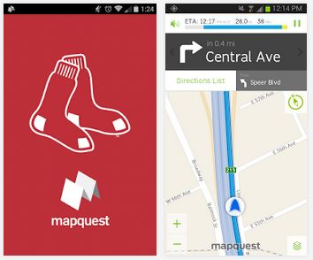 mapquest mlb