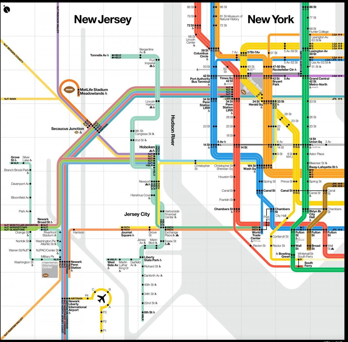 Nyc Subway Map Scan.Super Bowl Transit Perks Brand New Nyc Subway Maps For The Super