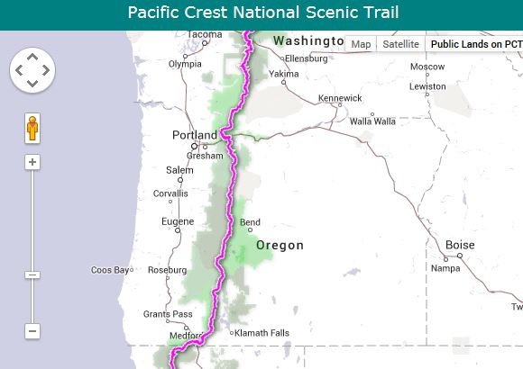 Mapping the Pacific Crest National Scenic Trail  2650 miles from