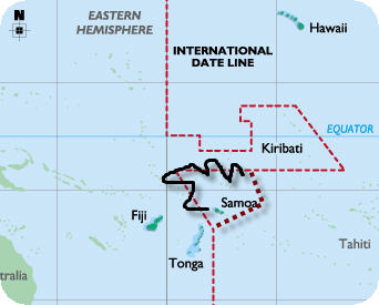 South Pacific Island Of Samoa Changes International Dateline