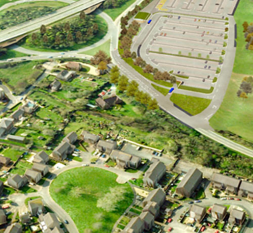 3D model and aerial imagery from Bluesky
