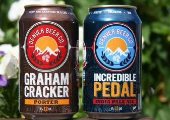 Denver Beer Co. marks cans of Incredible Pedal and Graham Cracker Porter with 24 distinct GPS coords