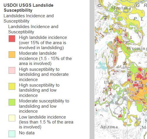 esri landslide map