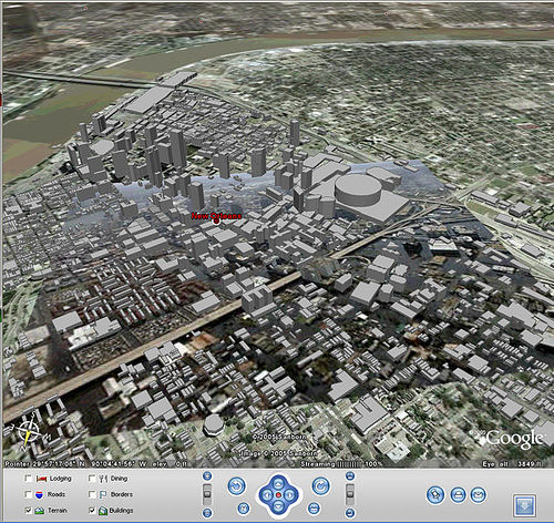 New Orleans 3D map - Google Earth
