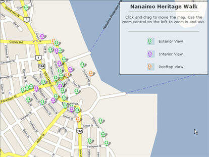 Nanaimo BC puts the city on the map using Google Earth Google Map APIs