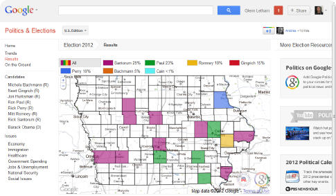 USA Google election map