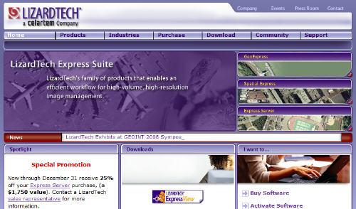 visit the LizardTech website