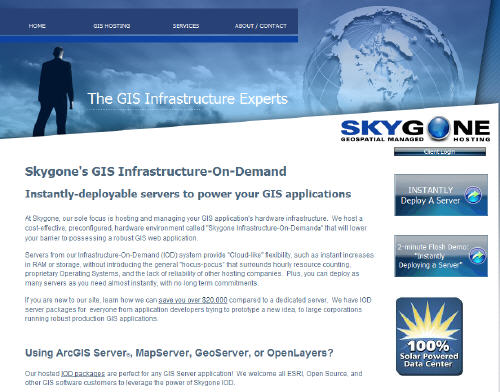 """Skygone Inc To Exhibit """"Infrastructure On-Demand"""" At ESRI"""