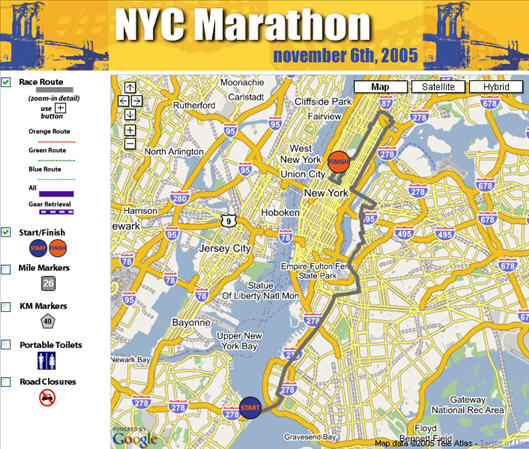 nyc marathon map