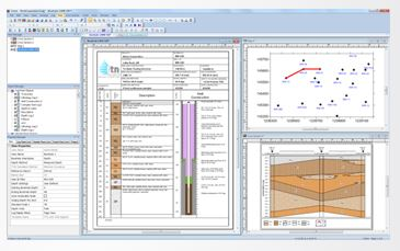 Strater® 4 Stratigraphically Superior Well Log, Borehole & Cross Section Plotting Software